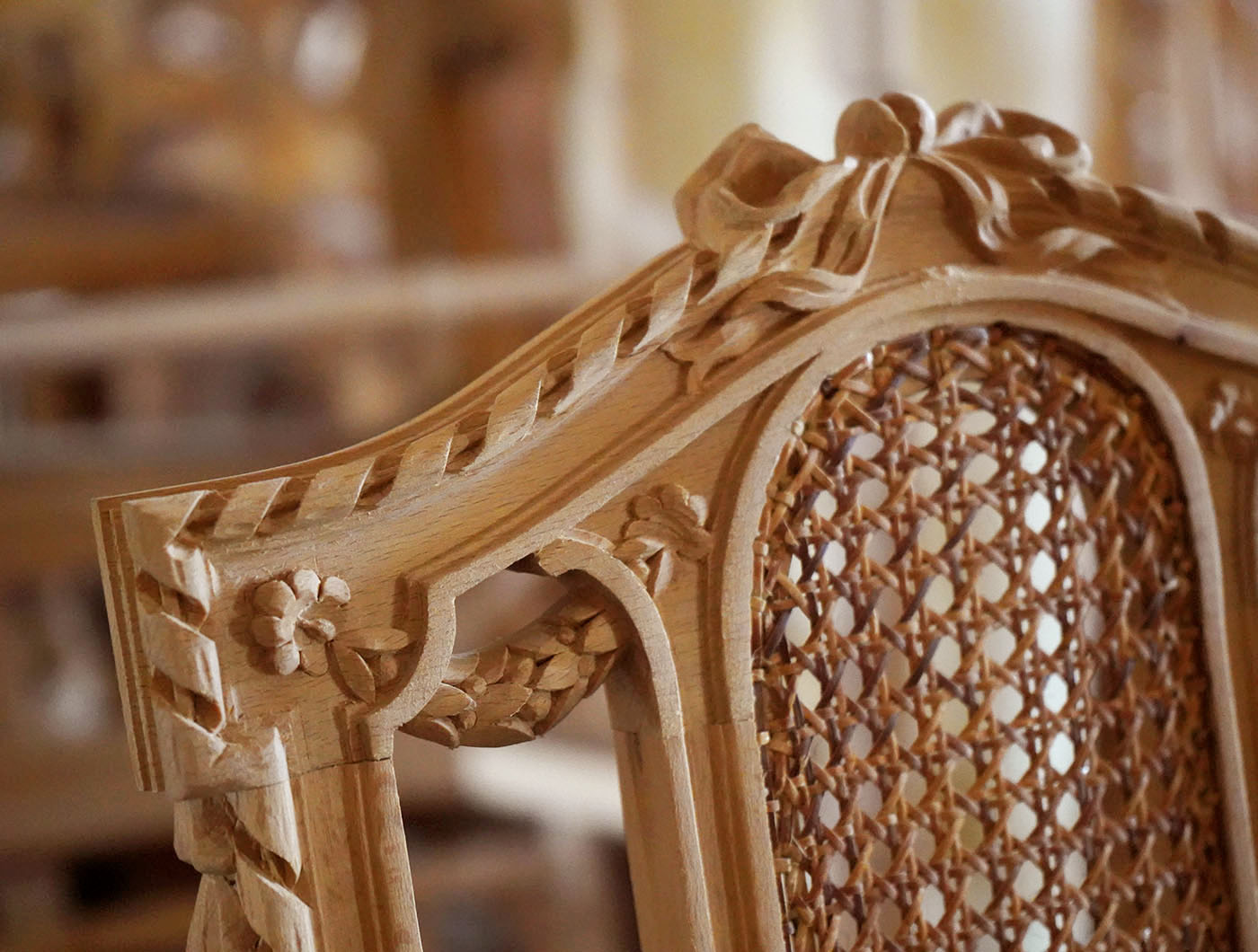 hand carved french Louis XVI chair | P.& G. Cugini Lanzani