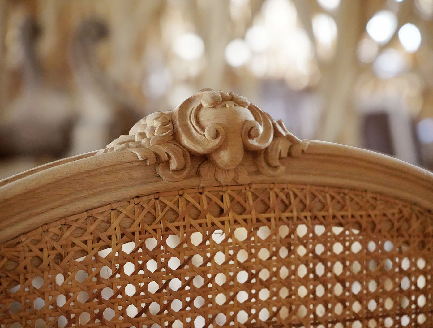 hand carved french Louis XV bergere | P.& G. Cugini Lanzani